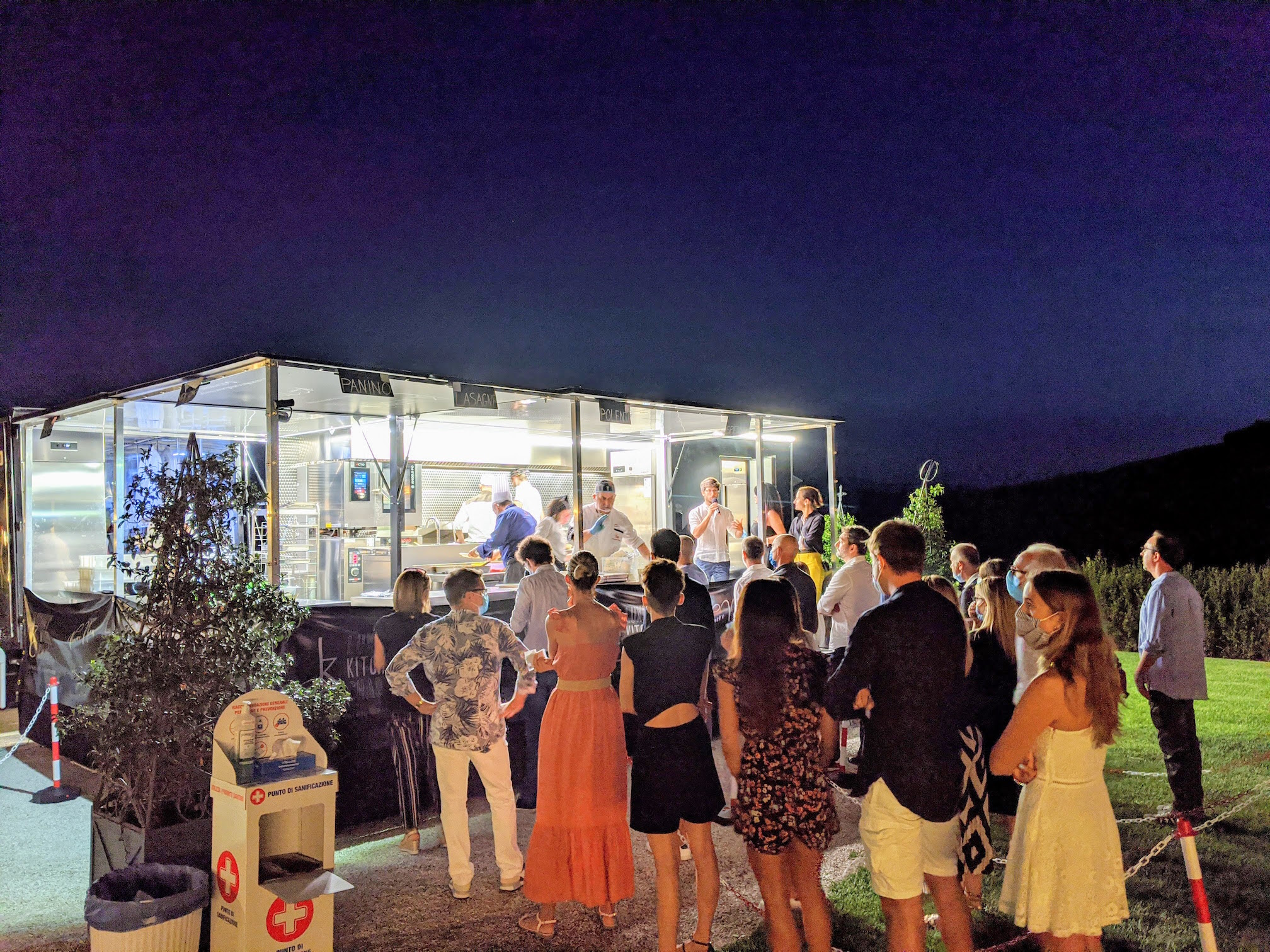 Cucina mobile per eventi